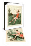 1920s France La Vie Parisienne Magazine Plate & 1920s France La Vie Parisienne Magazine Plate Set Prints