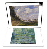 Le Bassin d'Argenteuil, c.1872 & Water Lily Pond (Harmonie Verte), c.1899 Set Prints by Claude Monet