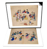 Masked Dance & Musicians with Dancers Set Prints by Kim Junkeun