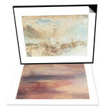 Eddystone Lighthouse off Plymouth & Coastal View at Sunset Set Posters by J. M. W. Turner