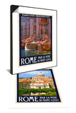 Trevi Fountain, Roma Italy 4 & St. Peter's Basilica, Roma Italy 6 Set Prints by Anna Siena
