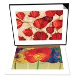 Poppy Field I & Poppy Tango Set Posters by Robert Charon