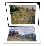Chemin Montant dans les Hautes Herbes, c.1876 & La Baie d'Alger, 1881 Set Prints by Pierre-Auguste Renoir
