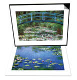 Japanese Footbridge & Water Lilies, 1906 Set Prints by Claude Monet