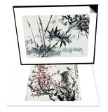 Birds in Winter Morning & Cherry Blossoms and Bird Set Art by Wanqi Zhang