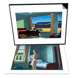 Western Motel & Morning in a City Set Posters by Edward Hopper