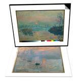 Sunset, 1880 & Impression: Sunrise, 1872 Set Posters by Claude Monet