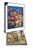 Night Stroll & Gallery Steps Set Prints by Sung Kim