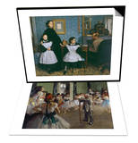 The Bellelli Family, c.1858 & The Dance Class, c.1875 Set Posters by Edgar Degas