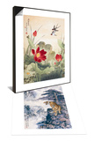 Birds over Lotus Pond & Tiger's Roar in the Valley Set Posters by Fangyu Meng