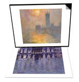 Parliament at Sunset, 1904 & The Contarini Palace, 1908 Set Prints by Claude Monet