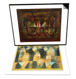 Nocturnal Festivities, 1921 & Three Houses and a Bridge, 1922 Set Posters by Paul Klee