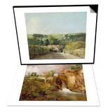 Osmington Village with Church and Vicarage, 1816 & Mill at Gillingham, Dorset, 1825-26 Set Posters by John Constable