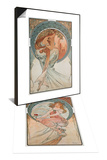 The Arts: Poetry, 1898 & The Arts: Painting, 1898 Set Posters by Alphonse Mucha