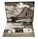 Fence and Barn & Gas Station and Cafe Set Prints by Aaron Horowitz