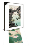 Birds by the Creek & Two Butterflies and Lotuses Set Prints by Hsi-Tsun Chang