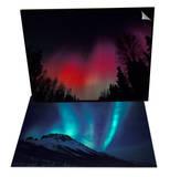 Curtains of Northern Lights, Alaska & Aurora Borealis, Gates of Arctic Nat'l Park, Alaska Set Art by Hugh Rose