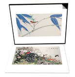 Green Bamboo and Red Bird & Birds, Peacock and Flowers in Spring Set Posters by Hsi-Tsun Chang