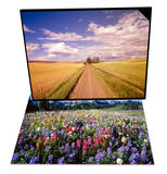 Dirt Road Stretching Through Fields & Wildflower Meadow and Tatoosh Range Set Print by Craig Tuttle