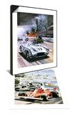 Mercedes Crash in the 1955 Le Mans Race & Niki Lauda Set Poster by Graham Coton