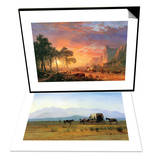 The Oregon Trail & The Stagecoach in the Rockies Set Prints by Albert Bierstadt