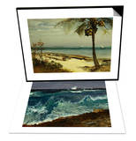 Tropical Coast & Seascape Set Prints by Albert Bierstadt