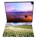 Fog Hanging Over Reflection Lake & Daisies Covering a Field Under Cloudy Skies Set Prints by Craig Tuttle