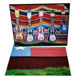 Colorful Guitars Drying & Texas Lone Star Design on Barn Roof Set Prints by Richard Cummins