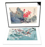 Fragrant Lotus & Plum Blossom in Snow Set Prints by Haizann Chen