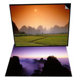 Rice Fields on Chalk Mt, Yangshou, China & Mountaintops and Clouds at Twilight Set Prints by Frank Krahmer