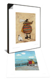 Dancing Cheek To Cheeky & Her Favourite Cloud Set Posters by Sam Toft
