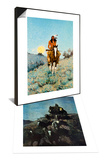 The Outlier 1909 & The Old Stage Coach of the Plains Set Print by Frederic Sackrider Remington