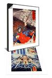 Konseimao Hanzui Beset by Demons & Mongaku Doing Penace at the Nachi Waterfall Set Posters by Kuniyoshi Utagawa