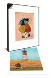 A Sneaky One & Feeling the Love at Nauset Light Set Poster by Sam Toft