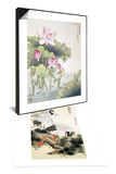 Lotuses and Bird & Cranes and Pine Tree Set Prints by Fangyu Meng