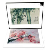 Green Bamboos & Spring Full of Fragrance Set Posters by Haizann Chen