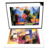 Garden On The Lake of Thun & Kairouan Set Prints by Auguste Macke