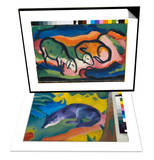 Sheep, 1912 & Blue Fox, 1911 Set Prints by Franz Marc