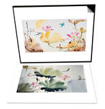 Autumn Lotus & Couples Set Prints by Chi Wen