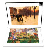 Boston in Everyday Twilight & A Fishing Hut in Gloucester Set Prints by Childe Hassam