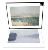 Golfe d'Antibes, 1888 & The Seine Near Vernon, as Seen in the Morning, circa 1894 Set Prints by Claude Monet