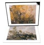 Trees in Autumn & Spring Wind Breeds Life Set Prints by Wanqi Zhang