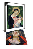 Madonna of the Fir Tree, 1925 & Madonna and Child, 1907-08 Set Poster by Marianne Stokes