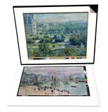 View of the Tuileries Gardens, Paris, 1876 & Port De Mer (Le Havre), 1874 Set Posters by Claude Monet
