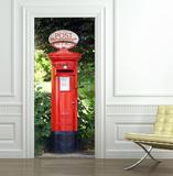 Postbox Door Wallpaper Mural Vægplakat