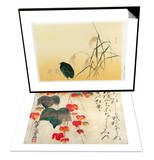 Blackbird, Edo Period & Poppies Set Prints by  Japanese School