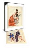 1920s France La Vie Parisienne Magazine Plate & 1920s France La Vie Parisienne Magazine Plate Set Posters