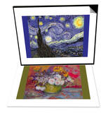 Starry Night & Still-Life with Roses and Sunflowers by Van Gogh Set Posters by Vincent van Gogh