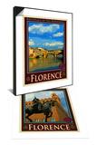 Ponte Vecchio, Florence Italy 1 & Piazza Della Signoria. Florence Italy 4 Set Prints by Anna Siena