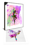 Ballerina Dancing Watercolor 1 & Ballerina on Stage Watercolor 3 Set Prints by Irina March